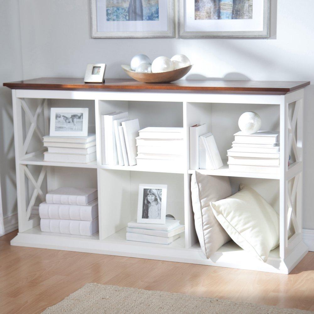 Belham Living Hampton Console Table 2 Shelf Bookcase -