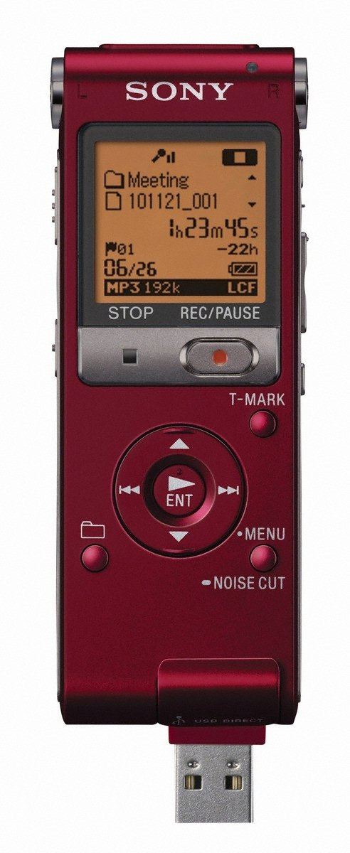 Sony ICD-UX512RED Digital Flash Voice Recorder