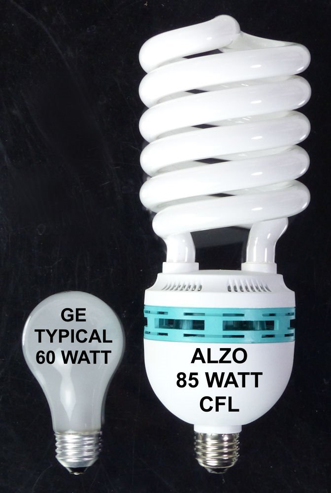 ALZO 85W CFL Video-Lux® Photo Light Bulb 3200K, 4250 Lumens, 120V, Warm White Light Ideal for Practical Lighting, Matches Color Temperature of Incandescent, Kino Flo and Osram Bulbs