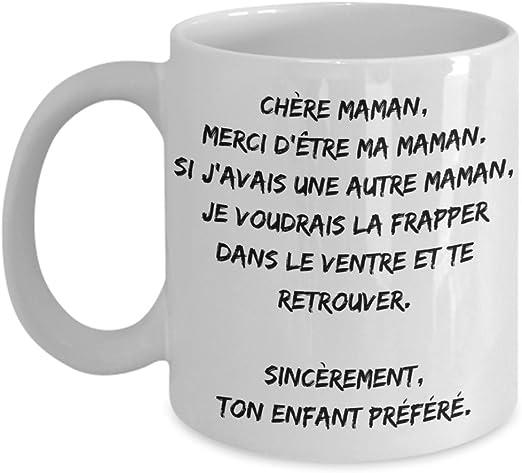 Amazon Com Tasse A Cafe Pour Maman Cadeau Mere Drole Chere