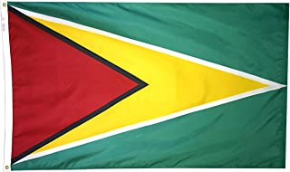product image for Annin Flagmakers Model 193305 Guyana Flag 3x5 ft. Nylon SolarGuard Nyl-Glo 100% Made in USA to Official United Nations Design Specifications.