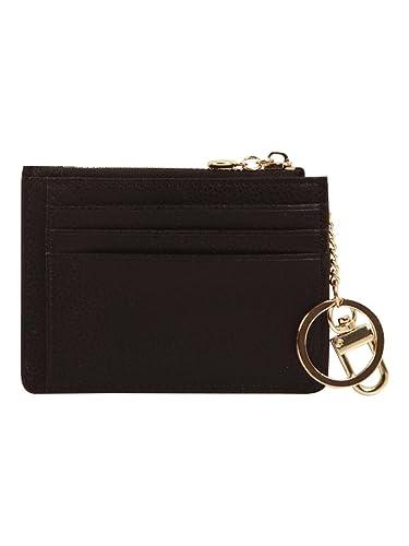 ddddaeb8e7f5 本革 レザー キーチェーン付き レディース財布 財布 小銭入れ コインケース カードケース (