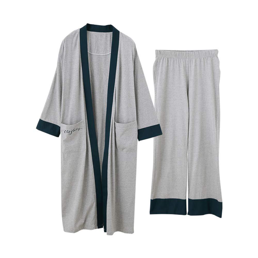 Mmllse Pijamas De Algodón De Otoño para Mujer, Bata De Casa ...