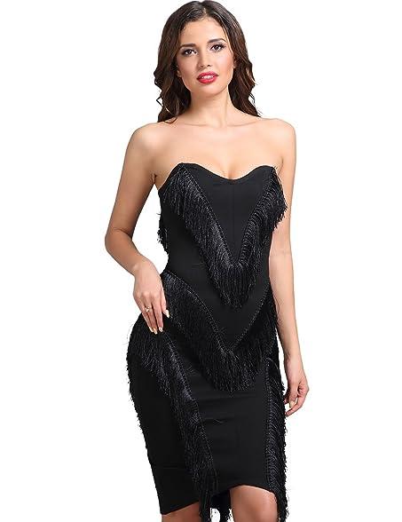 Miss Water Women Winter Bandage-Dress-Black Elegant Off Shoulder Evening Cocktail Dress For