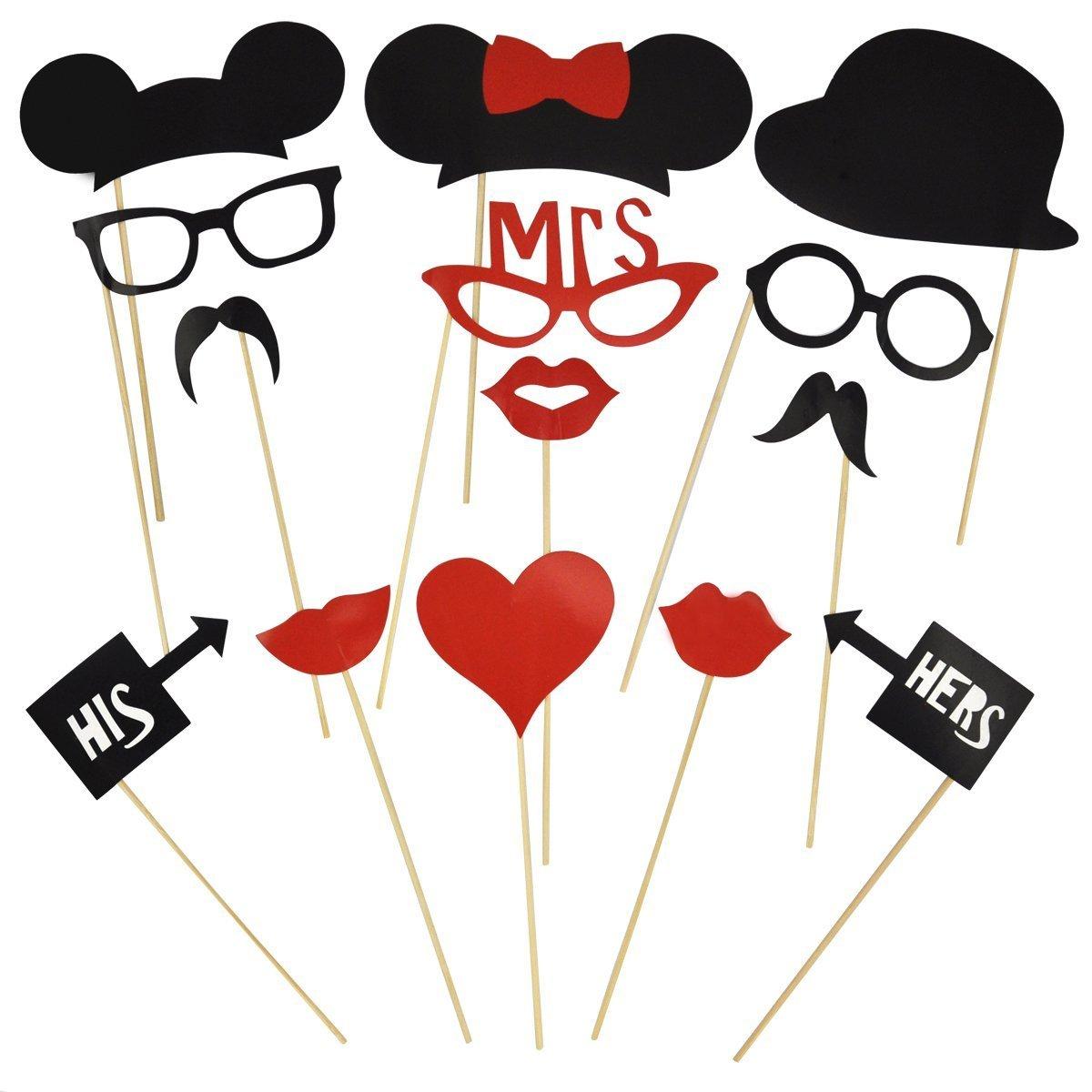 31 X Party Hochzeit Foto Verkleidung Schnurrbart Lippen Brille ...