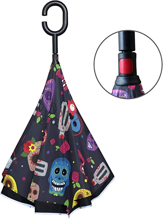 Acheter parapluie tete de mort online 22