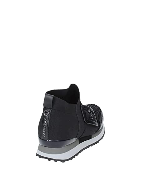 Apepazza Sneaker Slip ON Raelene in Pelle E Tessuto Nero Donna D19AP04   Amazon.it  Scarpe e borse 612f9107fb3