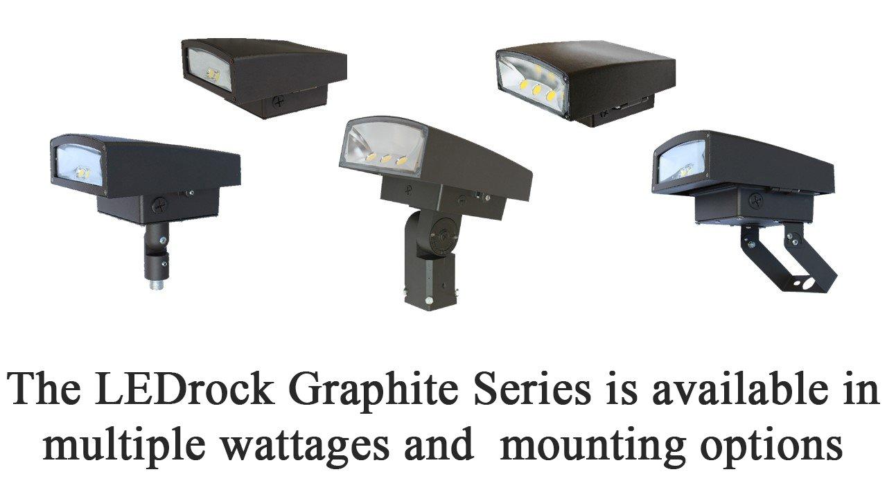 DLC-Listed LED 30 Watt Exterior Wallpack Floodlight, 4000K Neutral White, 120V-277V, Comparable to 100-150W MH-HPS, 2700 Lumens, Cutoff Wall Mount, UL-Listed, LEDrock Warranty Based in Denver, CO, USA