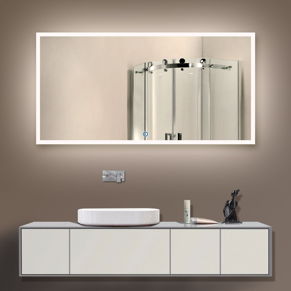 Elegant Light Over Wall Mounted Medicine Cabinet