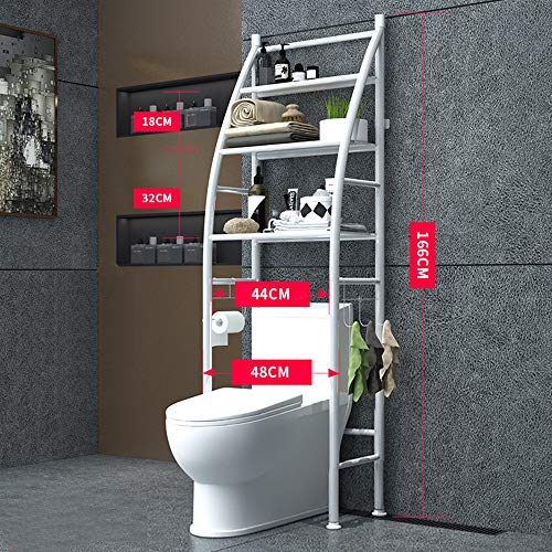 - Yaotop Shelf Bathroom Space Saver,3-Tier Iron Toilet Towel Storage Rack Holder Over The Bathroom Toilet Shelf Organizer,18.8