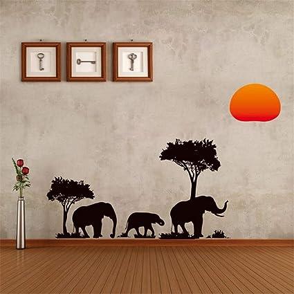 Zyzdsd elefanti albero genealogico foresta sole giungla selvatico