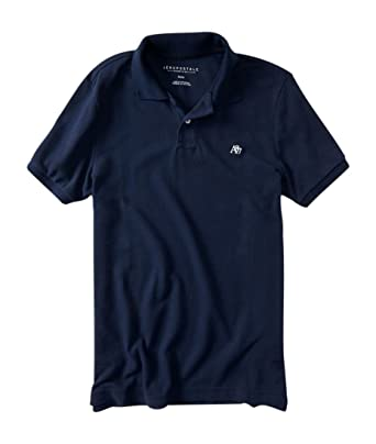 58063f833fb Aeropostale Men's Solid Uniform Logo Rugby Polo Shirt at Amazon ...