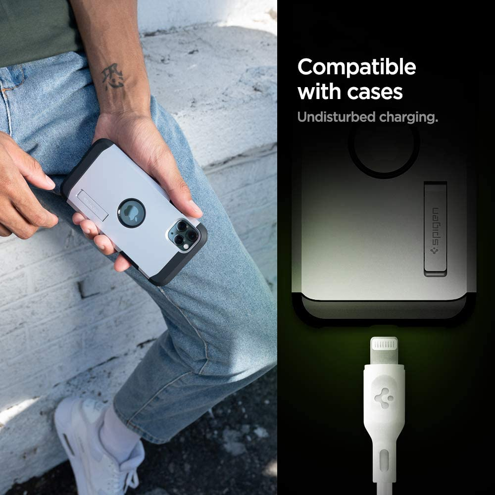3ft for iPhone 11,11 Pro,11 Pro Max 8 XR XS Max iPad and Other Lightning Port Devices 8 Plus XS Spigen DuraSync USB C to Lightning Cable MFi Certified with Power Delivery X
