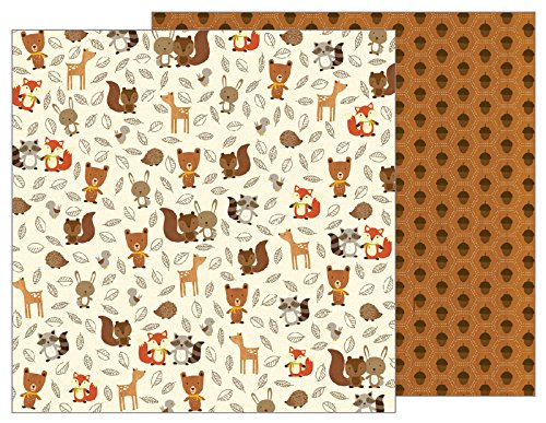 American Crafts Pebbles Woodland Forest 12 x 12'' Paper (25 Pack), Woodland Critters by American Crafts