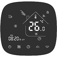 Termostato Inteligente para Caldera de Gas,Termostato Calefaccion WiFi Pantalla LCD (Panel Cepillado) Botón táctil…
