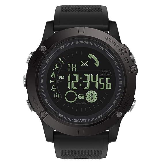 Smartwatch Hombre Deporte Reloj Inteligente Hombre Deporte con Estilo Smartwatch para Deportes y Aire Libre con Contadores de Podómetro Calorías ...