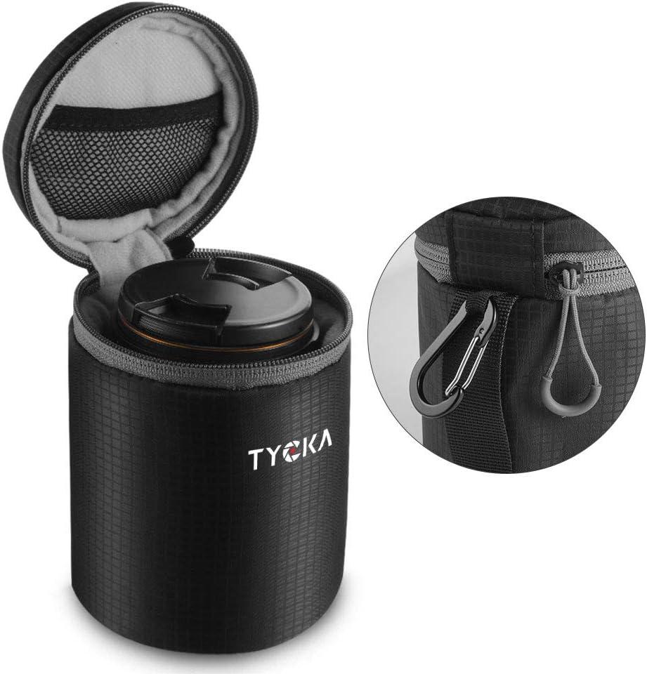 nero Sacchetti Lenti custodia per fotocamera resistente allacqua Custodia con cerniera per obiettivo fotocamera DSLR 7.3 x 9 cm //2.87 x 3.54 in TYCKA Custodia per obiettivo