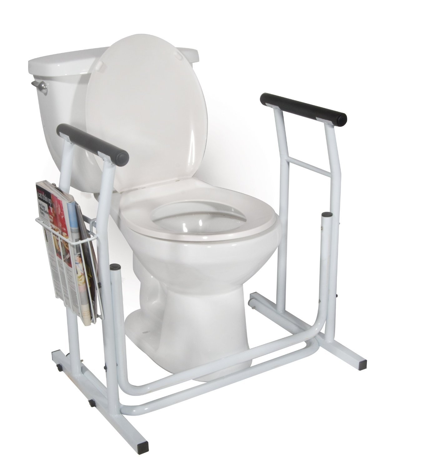 Portable commode folding bedside handicap adult toilet potty chair - Amazon Com Medmobile Stand Alone Toilet Safety Rail Health