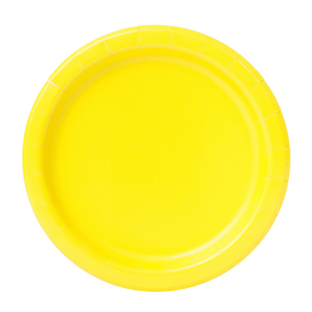 Unique Party 99145-23cm Neon Green Party Plates Pack of 16