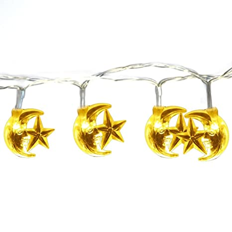 Islamic EID Ramadan 2M 20 LED Festival String LED Light Decoration Star Moon