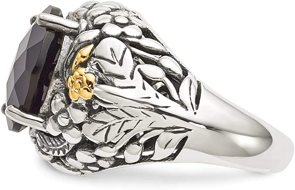 Shey Couture Sterling Silver with 14k Onyx Ring Size 7