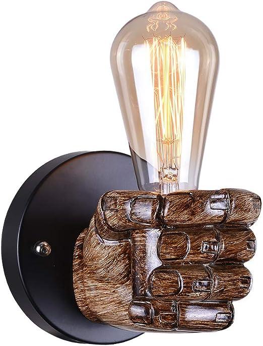 Vintage Wall Light 1 Light Wall Lamp With E27 Socket Wall Lights Fittings Beside Lamp Sconce Light Lamp Fixture For Bedroon Livingoom Corridor Left Fist Amazon Co Uk Lighting