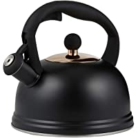 Typhoon Living Otto Stovetop Whistling Kettle with Quick-Flip Cap Black, 2 Litre (1401.173)