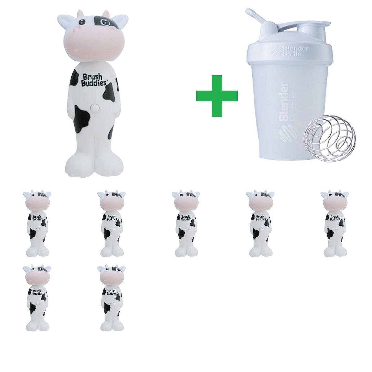 Brush Buddies, Poppin', Milky Wayne Cow, Soft, 1 Toothbrush(8 Packs)+ Assorted Sundesa, BlenderBottle, Classic With Loop, 20 oz