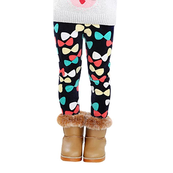 BBsmile Pantalones de Invierno para Niños Pantalones de Terciopelo Gruesos Pantalones de Lápiz de Estrellas para