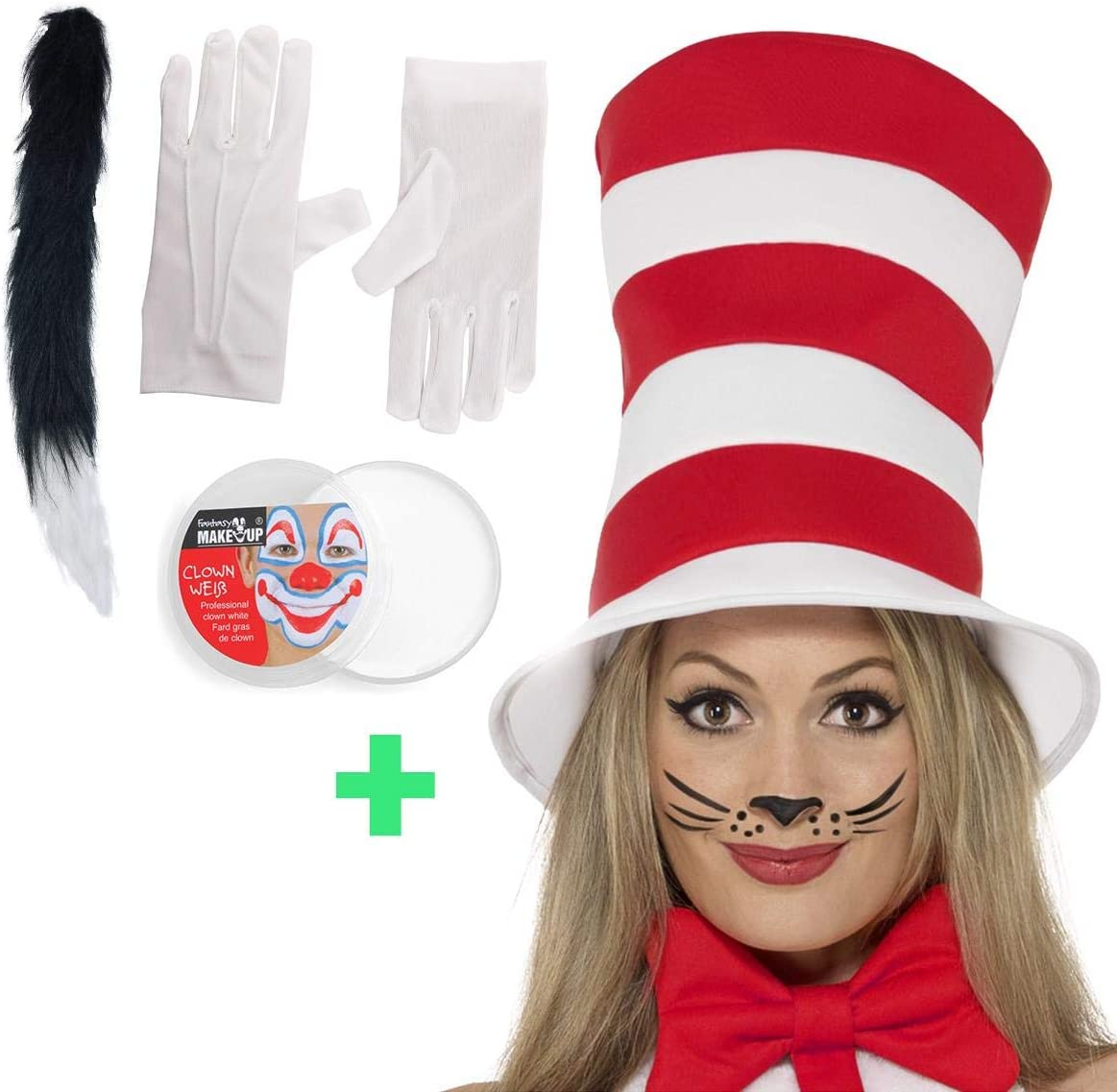 The Cat in the Hat Accessory Set Kids Fancy Dress World Book Day Costume Kit