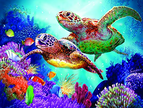 Turtle Guardian 1000 pc Jigsaw Puzzle by SunsOut - Turtle Scene