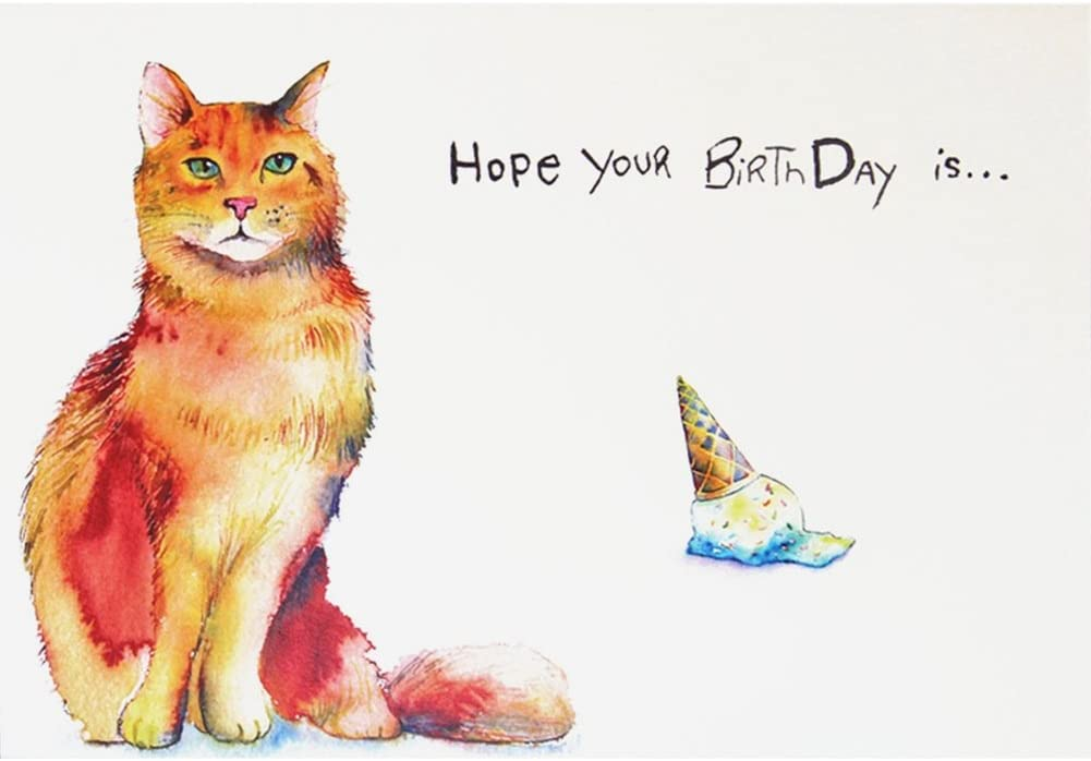 Prime Amazon Com Cat Purfect Happy Birthday Greeting Card Office Personalised Birthday Cards Epsylily Jamesorg