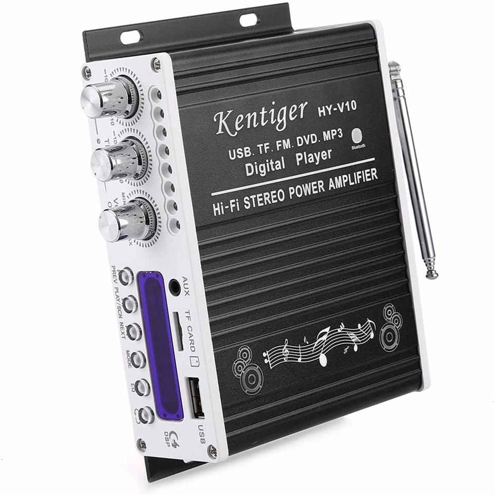 beIilan Kentiger V10 Hallo-Fi Class-AB Stereo Digital Player Super Bass Bluetooth Verst/ärker Fernbedienung Wireless Car Audio Lautsprecher
