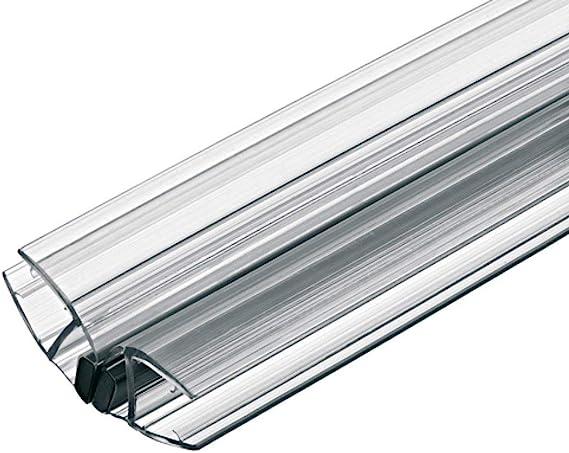 Gedotec Magnet-Dichtung Ducha Sellado 135°para Duschtrennwände - Mamparas de - Puertas Corredizas | PVC Transparente | Glastür-dichtung para Grueso Cristal 8-10mm | 1 Pieza - Labio: Amazon.es: Bricolaje y herramientas