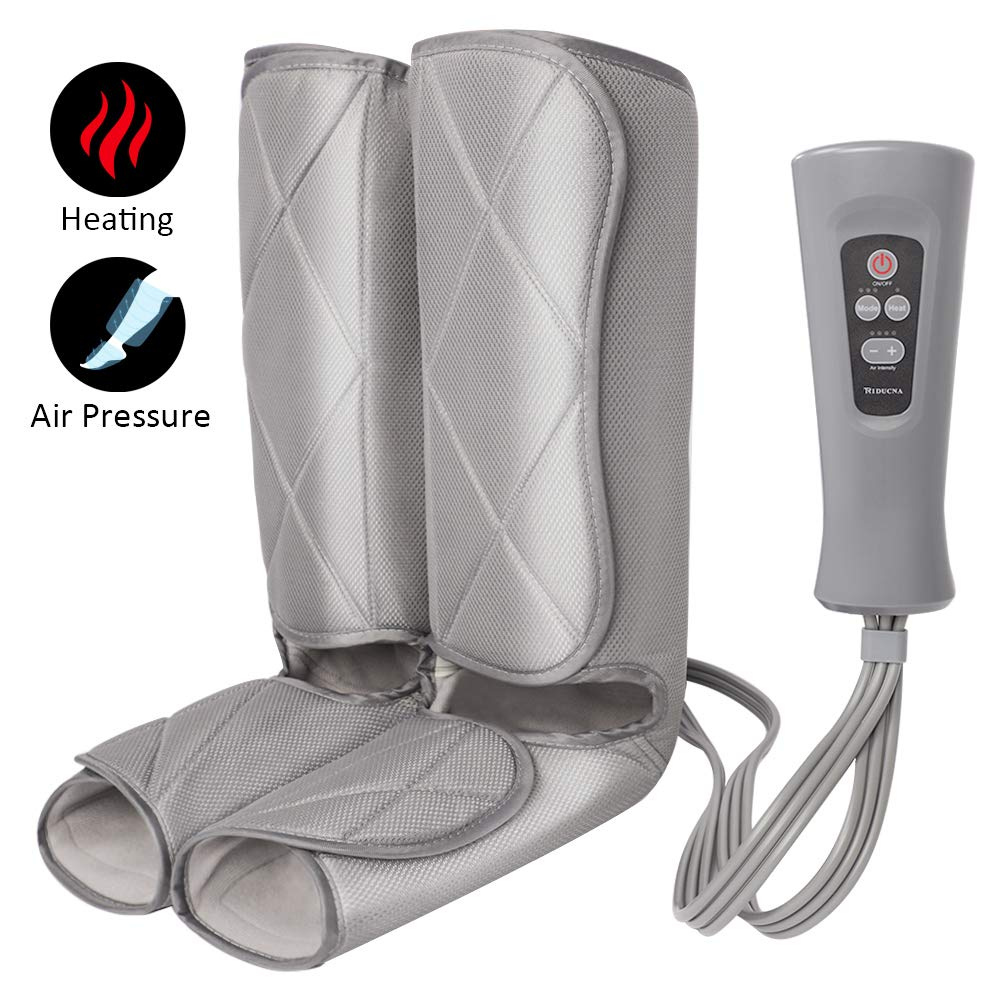 Air Compression Leg Massager for Foot and Calf Massage with Optional Heat 3 Modes 4 Intensities for Feet, Legs, Calves Muscle Relaxation by TRIDUCNA