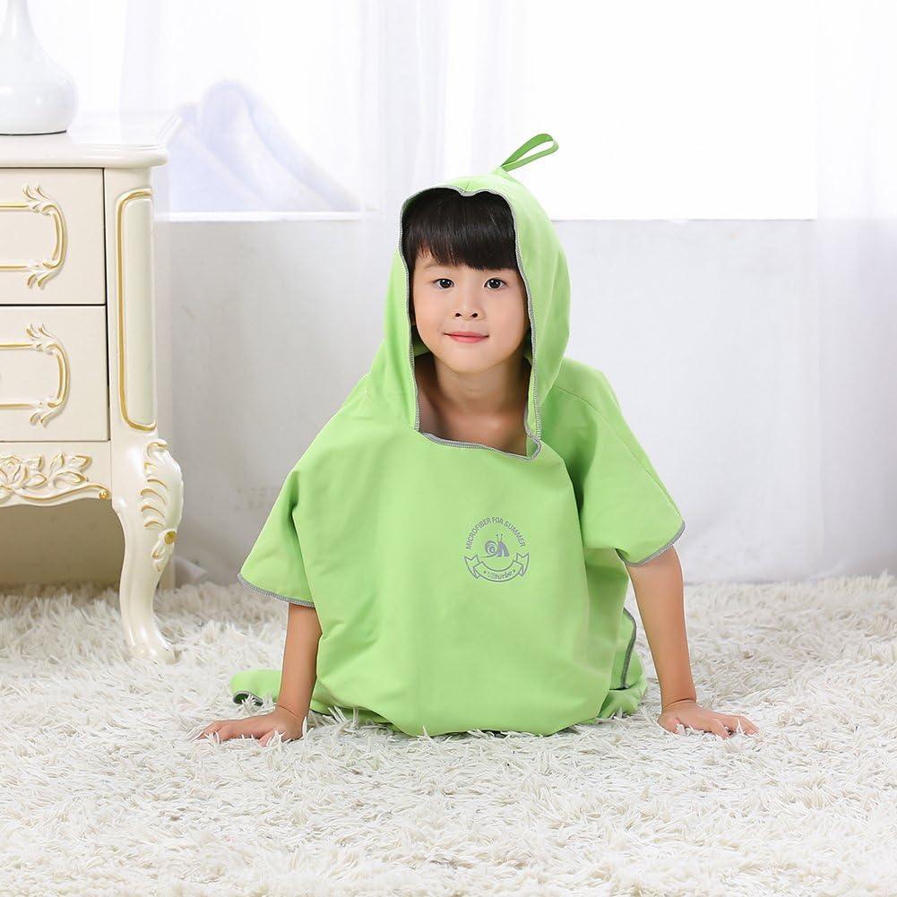 Jian Ya Na Toalla de ba/ño unisex para ni/ños con capucha y capa de ba/ño de beb/é absorbente de agua de secado r/ápido