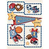 Dimensions Needlecrafts Counted Cross Stitch, Little Sports Birth Record