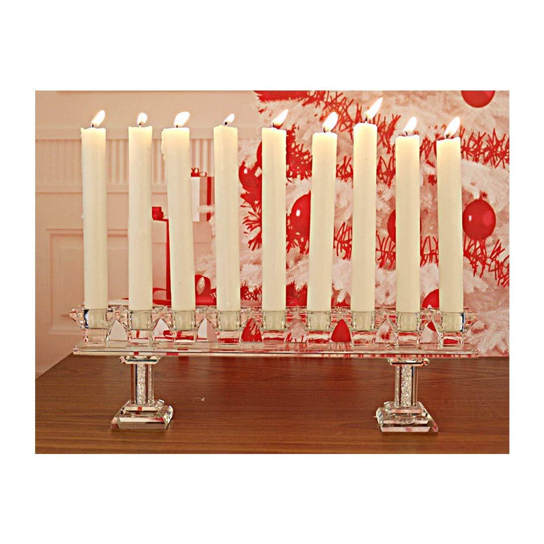 Sconosciuto H /& D Cristallo portacandele con 9/Luce candelabri per Matrimonio da Pranzo tavolino Decorativo centrotavola