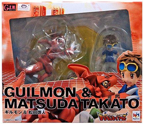 - Megahouse Digimon Tamers Matsuda Takato & Guilmon GEM PVC Figure