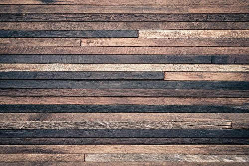 (10x6.5 ft Retro Wood Wall Photo Backgrounds Brown Wooden Photography Backdrops Wrinkle free Seamless Cotton Cloth)