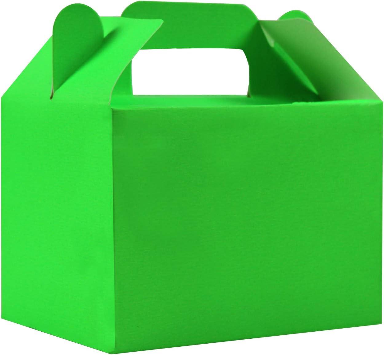 Stomping Ground Toys Cajas para Dulces - 12 Cajas de cumpleaños Colores Arcoíris - Cajas Galletas - Cajas Regalo Personalizadas para Baby Shower, Fiestas Niños, Manualidades