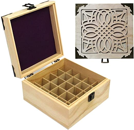 heresell - Caja de Madera para aceites Esenciales, Organizador de ...