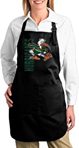 Miami Hurricanes Practice Logo Pocket Kitchen Apron