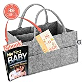 Baby Cribs with Changing Table on Sale Baby Diaper Caddy Portable Organizer Storage Basket - Customizable Compartments to Carry More Items - Durable and Lightweight Nursery Travel Bin - Free Baby Shower Gifts Postcard is Included!
