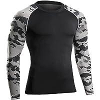 Bwiv Camiseta Hombre Deportiva Compresión Camiseta Interior Hombre