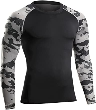 Bwiv Camiseta Hombre Deportiva Compresión Camiseta Interior Hombre ...