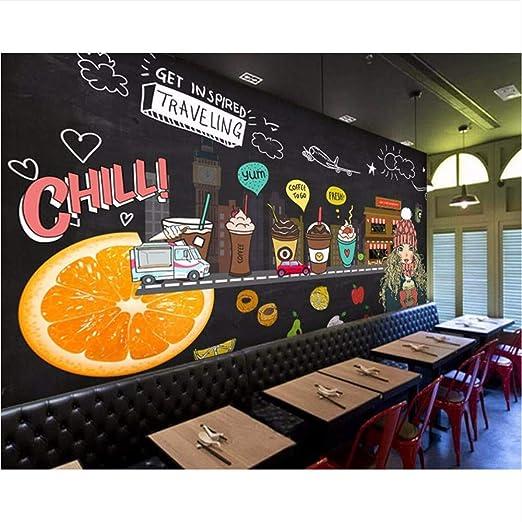 Ytdzsw Juice Shop Custom 3D Photo Wallpaper Pintado A Mano Pizarra ...