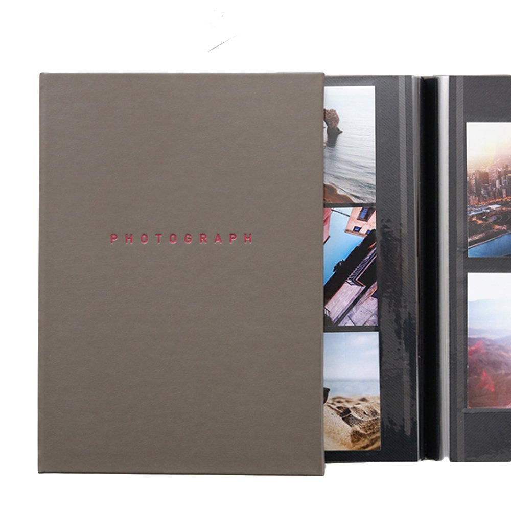 SMCompany Self Adhesive Collage Magnetic Photo Album Scrapbook 40 Pages Grey by SMCompany