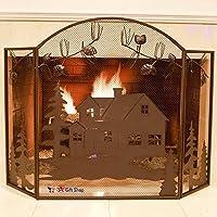 Metal Foldable Fireplace Screen