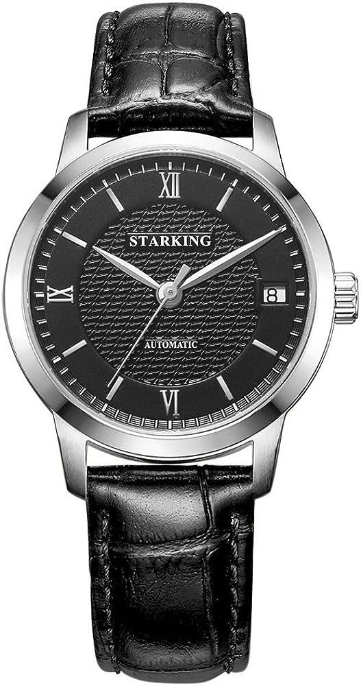 STARKING Watch Automatic Lady Watch AL0187 Black Mechanical Stainless Steel Dress Watch